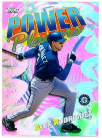 1999 Topps Alex Rodriguez Power Players Insert Card - redrum comics