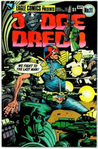 Judge Dredd #11 Eagle/Quality Comics 1984 2000 AD - redrum comics