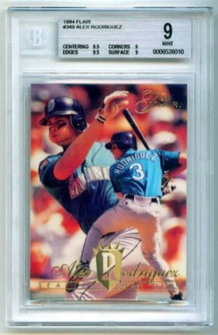 ALEX RODRIGUEZ 1994 Fleer Flair Rookie Card BGS 9 MINT Seattle Mariners - redrum comics