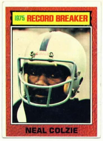 1976 Topps Neal Colzie Record Breakers Card Oakland Raiders - redrum comics