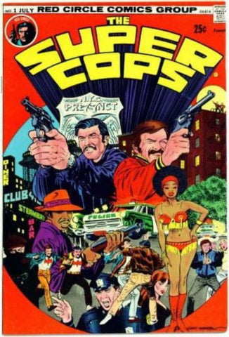 Super Cops #1 Red Circle Comics 1974 Bronze Age Garry Morrow NM - redrum comics