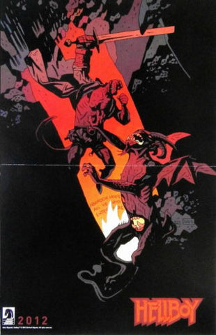 Hellboy IN HELL BPRD 2012 Promo Poster Dark Horse Comics Mike Mignola