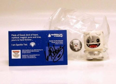 64 Colors SPARKLE YETI SDCC 2013 exclusive Mini Marshall SIGNED with Button Mint