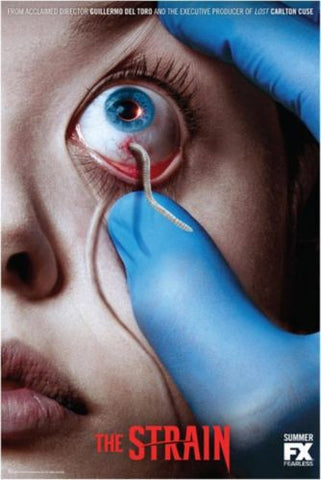 "The Strain SDCC 2014 FX 11""x7"" Promo Poster Guillermo Del Toro Eyeball Worm"