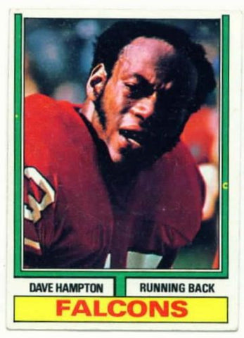 1974 Topps Dave Hampton Atlanta Falcons card - redrum comics