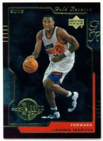 2000 Upper Deck Gold Reserve SHAWN MARION Rookie Card - redrum comics