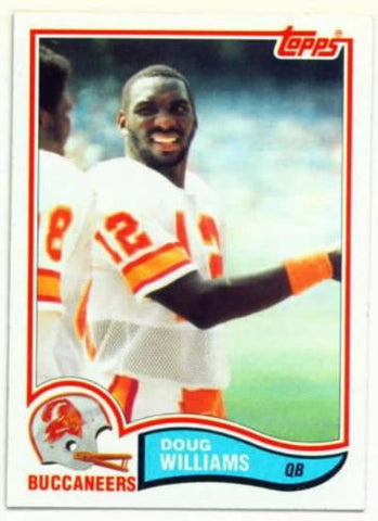 1982 Topps Doug Williams Tampa Bay Buccaneers Card Super Bowl XXII