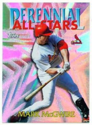 1999 Topps Mark McGwire Perennial All Stars Insert Card - redrum comics