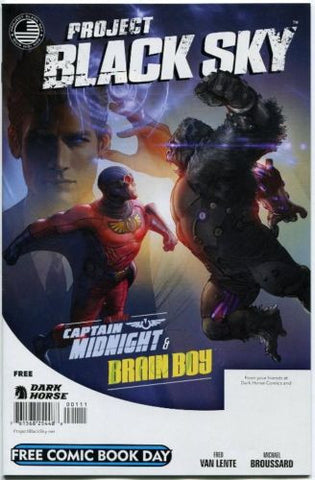 Project Black Sky #0 FCBD 2014 Captain Midnight Brain Boy Dark Horse Comics
