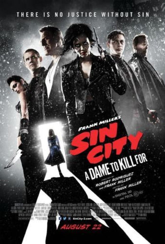 "Sin City 2 A Dame to Kill For SDCC 13""x20"" Full Cast Promo Movie Poster - redrum comics"