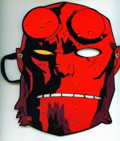 Hellboy Paper Mask SDCC 2011 promo exclusive Mike Mignola Halloween - redrum comics