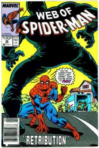 Web of Spider-Man #39 VF Marvel Comics 1988 The Looter - redrum comics