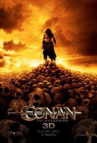 "Conan the Barbarian 3D 2011 Movie Promo poster 13.5"" x 20"" Jason Momoa - redrum comics"