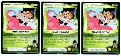 Dragonball Z GOTENKS FAST ACTION promo card P1 x3 DBZ TCG