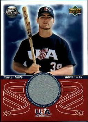 Xavier Nady 2002 Upper Deck Sweet Spot USA JERSEY Card - redrum comics