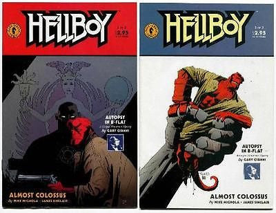 Hellboy Almost Colossus #1 and 2 set by Mike Mignola 1996 Dark Horse Comics - redrum comics