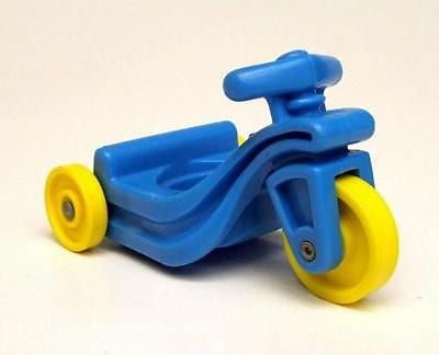 Fisher Price Vintage Little People Blue Yellow Tricycle