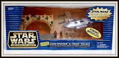 MIB Star Wars Episode I Sneak Preview GIAN SPEEDER & THEED PALACE Galoob 1998 - redrum comics