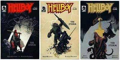 Hellboy The Storm Issues 1-3 set VF/NM Mike Mignola Duncan Fegredo