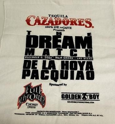 Manny Pacquiao VS Oscar De La Hoya Dream Match Fight Towel MGM Grand Boxing - redrum comics