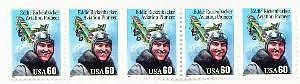 2998 60c Eddie Rickenbacker Sheet of 5 US Postage Stamp 1995 WWI fighter