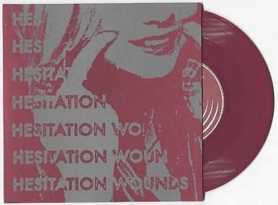 "Hesitation Wounds S/T 7"" EP Oxblood Vinyl comes w/download code Deathwish Punk - redrum comics"