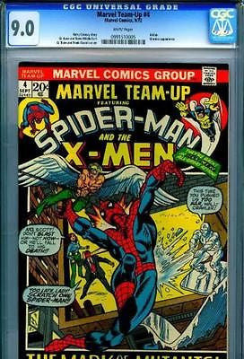 Marvel Team-Up #4 Spider-Man X-Men CGC 9.0 NM- 1972 - redrum comics