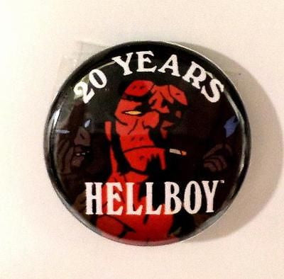"Hellboy 20 Years Dark Harse Comiics 2014 SDCC Comic Con 1"" Pin Pinback Button - redrum comics"