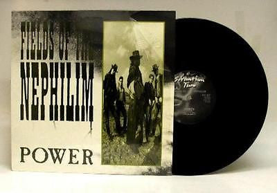 "Fields of the Nephilim Power 12"" Vinyl Single 1986 Darkwave Sisters of Mercy - redrum comics"