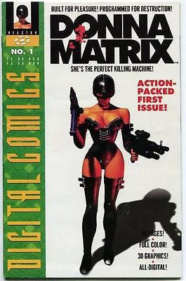 Donna Matrix #1 One-Shot 1993 Reactor Comics computer 3D Digital generated Comic - redrum comics
