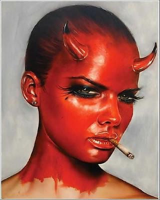 "Brian Viveros The Devil In All Of Us 16"" x 20"" Signed Giclee Print #/50"