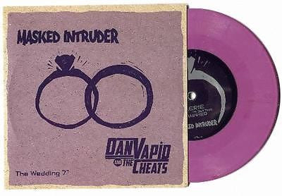 "Masked Intruder/Dan Vapid and the Cheats The Wedding split 7"" Opaque Purple - redrum comics"