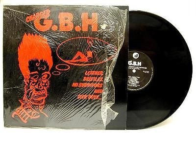 Charged GBH Leather Bristles No Surivors Sick Boys 1982 Original Vinyl LP - redrum comics