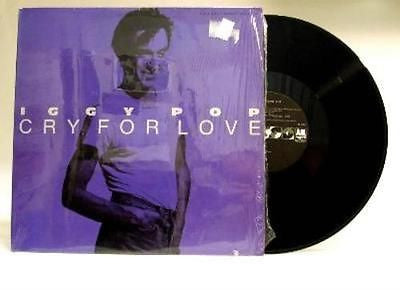 "Iggy Pop Cry For Love Extended Dance Version 12"" Vinyl Single Stooges"