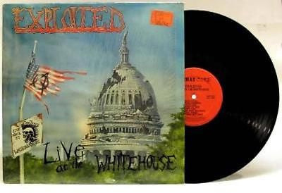 The Exploited Live at the White House Vinyl LP 1st Press Combat Core Red Label - redrum comics
