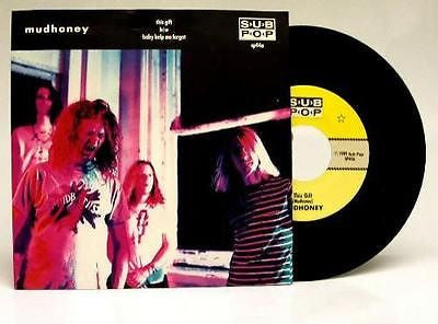 "Mudhoney This Gift Vinyl 7"" 45 on SubPop Sub Pop 1989"