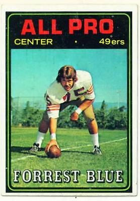 1974 Topps Forrest Blue All Pro San Francisco 49ers card - redrum comics