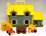 Fisher Price Vintage Little People Play Family House Playset