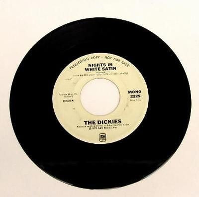 "The Dickies Nights in White Satin 7"" Vinyl Promo Punk Rock"