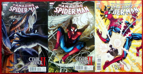 Amazing SpiderMan 2016 #002 003 004 Civil War II Variant Cover set lot run 2 3 4