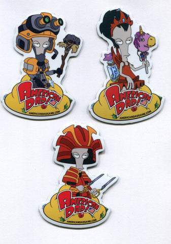 AMERICAN DAD Roger MAGNET Set 3 SDCC 2019 COMIC CON Exclusive Collectible FOX TV