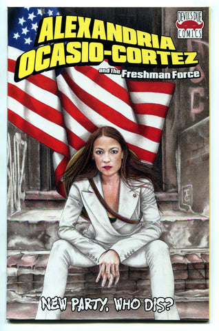 Alexandria Ocasio-Cortez and the Freshman Force #1 AOC Midtown Comics Variant NM