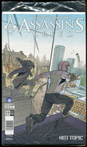 Assassin's Creed #1 Comic Book Hot Topic Variant Sealed Titan Comics Ubisoft 2015