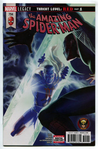 Amazing Spider Man #794 Alex Ross Cover NM Green Goblin Carnage Threat Level RED