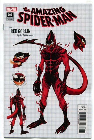Amazing Spider-Man #797 1:10 Ed McGuinness Design Variant Red Goblin Cover NM