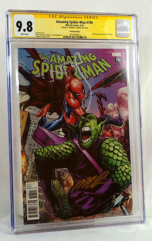 Amazing Spider-Man #798 CGC 9.8 NM Ramos Signed Variant Cover 1st Red Goblin