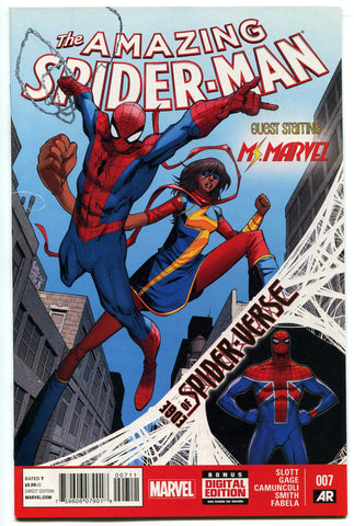 Amazing Spiderman #7 Edge of Spider-verse with Ms. Marvel and Silk VF/NM