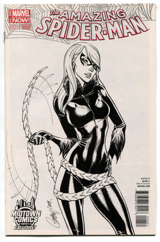 Amazing Spider-Man Vol 3 #2 Midtown Black Cat J Scott Campbell Sketch Variant NM