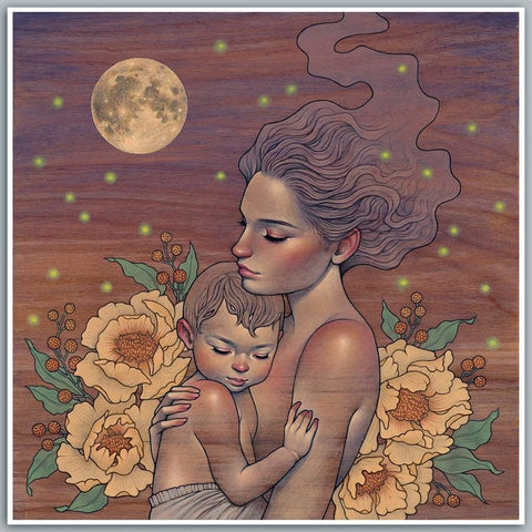 "Audrey Kawasaki 'Clair De Lune' Signed 12"" x 12"" Limited Edition Art Print"