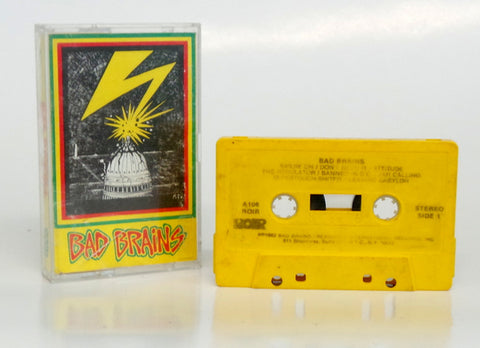 Bad Brains 1982 Debut YELLOW Cassette RARE RIOR A106 Washington DC Hardcore PUNK